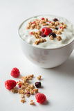 Breakfast cereals with yogurt Royalty Free Stock Image