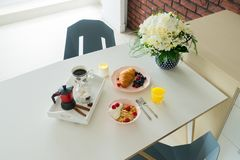 Breakfast with cereles Royalty Free Stock Image