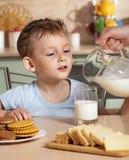 Breakfast of child Royalty Free Stock Photos