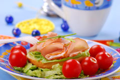 Breakfast for child Royalty Free Stock Image