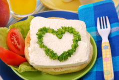 Breakfast for child Stock Images