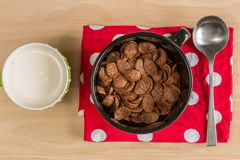 Breakfast Chocolate Cornflakes Cereal Royalty Free Stock Photo