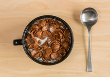 Breakfast Chocolate Cornflakes Cereal Royalty Free Stock Images