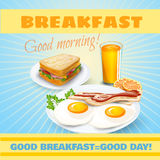 Breakfast classical  poster Royalty Free Stock Photography