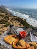 Breakfast on the cliff Stock Photos