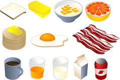 Breakfast clipart Stock Photo