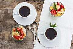 Breakfast -coffe and cheese, Stock Images