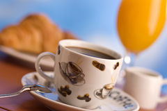 Breakfast with coffee Stock Images