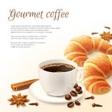 Breakfast With Coffee Background Royalty Free Stock Photography