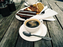 Breakfast with coffee and cakes Royalty Free Stock Images