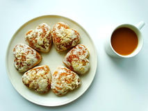 Breakfast with coffee and cookies. Breakfast with coffee and cookies food benefit Stock Photos