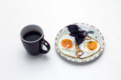 Breakfast with coffee and eggs Stock Photography