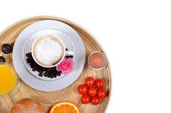 Breakfast coffee and juice Stock Images