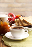 Breakfast and coffee Royalty Free Stock Photography