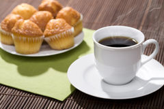 Breakfast of coffee and muffins Royalty Free Stock Images