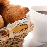 Breakfast of coffee and pastry Stock Images