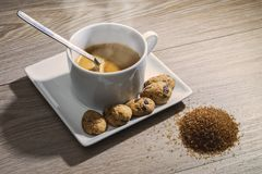 Breakfast with coffee stock photography