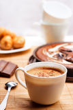 Breakfast with coffee and pie Stock Image