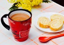 Breakfast, coffee and pie Stock Photo