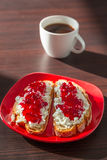 Breakfast with coffee. Royalty Free Stock Image