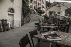 Breakfast in cinque terre, Italy royalty free stock images