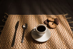 Breakfast coffee whit biscuit Royalty Free Stock Photography