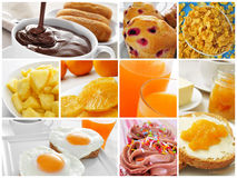 Breakfast collage Royalty Free Stock Photography