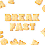 Breakfast cookie font alphabet. Stock Photos