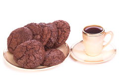 Breakfast cookies on a plate with coffee Royalty Free Stock Photography