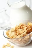 Breakfast with corn-flakes Royalty Free Stock Photo