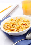 Breakfast with corn-flakes Stock Image