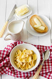 Breakfast corn flakes Stock Photos