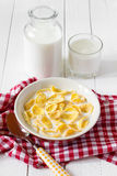 Breakfast corn flakes Stock Images