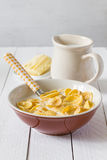 Breakfast corn flakes Stock Photo