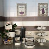 Breakfast corner in the hostel Stock Photo