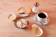 Breakfast with cottage cheese Stock Photography