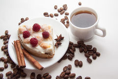 Breakfast with cottage cheese quiche Royalty Free Stock Photos