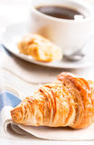 Breakfast with croissant Stock Photos