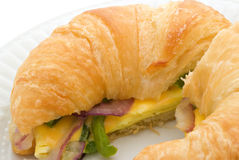 Breakfast Croissant Royalty Free Stock Photo