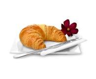Breakfast Croissant Royalty Free Stock Photos