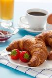 Breakfast with croissants and coffee Stock Photo