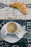 Breakfast with Croissants and Coffee Royalty Free Stock Image