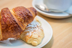 Breakfast croissants Royalty Free Stock Images