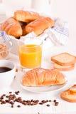 Breakfast with croissants. Stock Photos