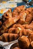 Breakfast croissants Stock Photos