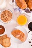 Breakfast with croissants. Stock Photo