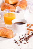 Breakfast with croissants. Stock Photography