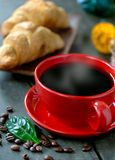 Breakfast with cup of coffee Stock Photography