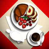 Breakfast cup of coffee. stock illustration
