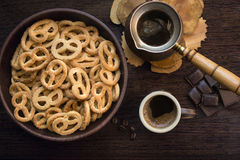 Breakfast. Day begins with coffee royalty free stock image